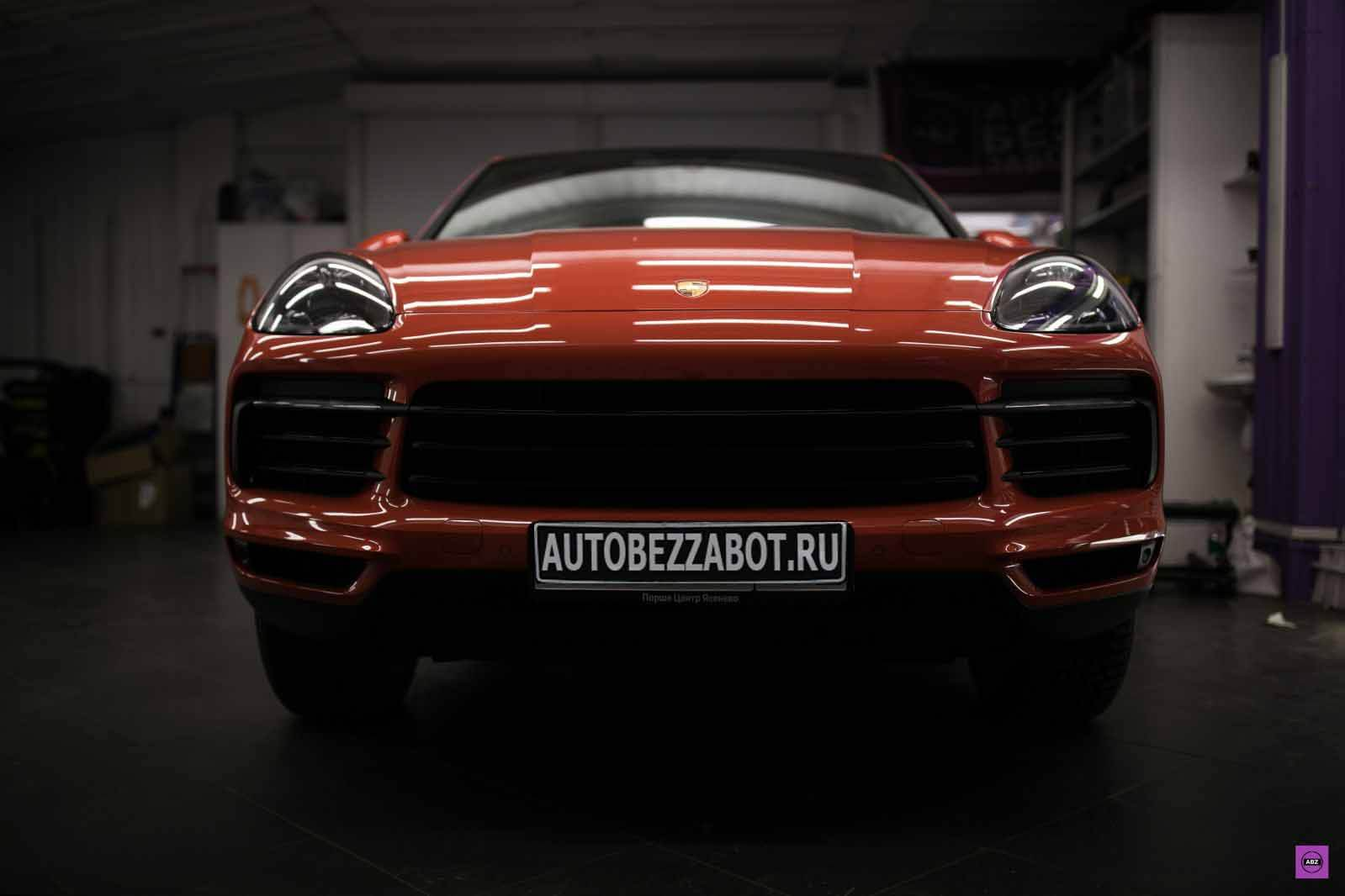 "Фото Новый Porsche Cayenne Coupé ""Lava Orange"" под LLumar Platinum Plus PPF Matte"